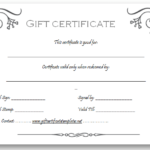 Pinget Certificate Templates On Beautiful Printable Gift with Best Company Gift Certificate Template