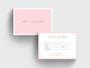 Pink And Gold Gift Voucher Template Diy Corjl Gift Card intended for Best Pink Gift Certificate Template