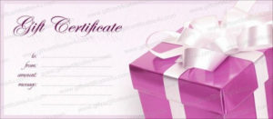 Pink Box Gift Certificate Template – Giftcertificates4U in Pink Gift Certificate Template