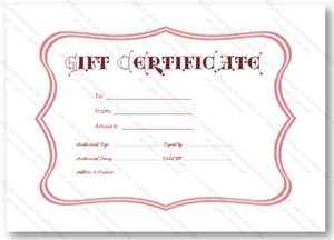 Pink Frame Gift Certificate Template – Certificate Templates with regard to Pink Gift Certificate Template
