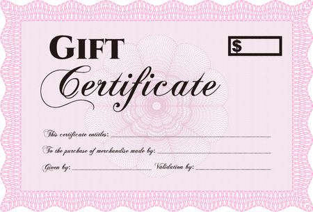 Pink Gift Certificate Template (7) - Templates Example regarding Best Pink Gift Certificate Template