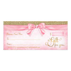 Pink Gift Certificates | Gift Certificate Templates in Best Pink Gift Certificate Template