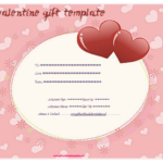 Pink Hearts Gift Certificate Template – Gift Certificates For Valentine Gift Certificate Template