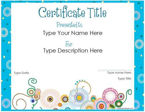 Pinkari Klenke On Home School Stuff | Free Printable regarding Hayes Certificate Templates