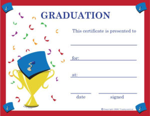 Pinkunno Basics On Projects To Try | Graduation intended for 5Th Grade Graduation Certificate Template