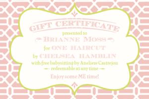 Pinlaryn Andjustin Bellar On Speechy-Keen | Printable inside Baby Shower Gift Certificate Template