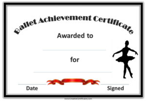 Pinsarah Collins On Glam | Certificate Templates, Free pertaining to Quality Dance Award Certificate Template