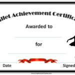 Pinsarah Collins On Glam   Certificate Templates, Free throughout Ballet Certificate Templates