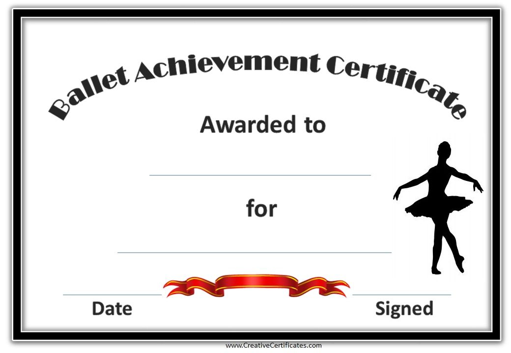 Pinsarah Collins On Glam | Certificate Templates, Free throughout Ballet Certificate Templates
