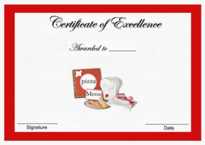 Pizza Themed Award Certificates | Certificate Templates within Best Pizza Gift Certificate Template