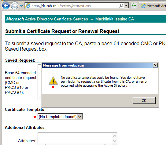 Pki (Public Key Infrastructure) With Adcs, Part 9: Web with Quality No Certificate Templates Could Be Found