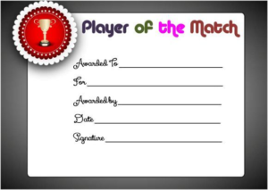 Player Of The Day Certificate Template 3 – Best Templates inside Best Player Of The Day Certificate Template