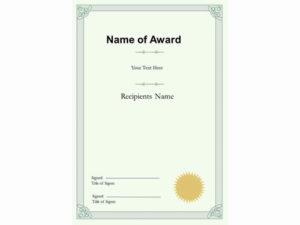 Portrait Certificate Template regarding Qualification Certificate Template