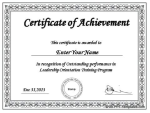 Powerpoint Award Certificate Template (7) – Templates in Powerpoint Award Certificate Template