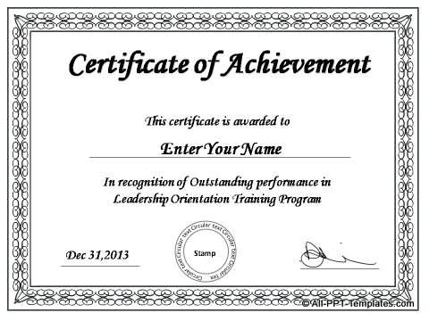 Powerpoint Award Certificate Template (7) - Templates throughout Best Award Certificate Template Powerpoint