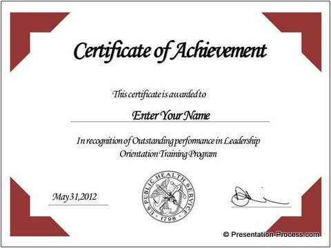 Powerpoint Certificate Templates Free Download (8 with Powerpoint Certificate Templates Free Download