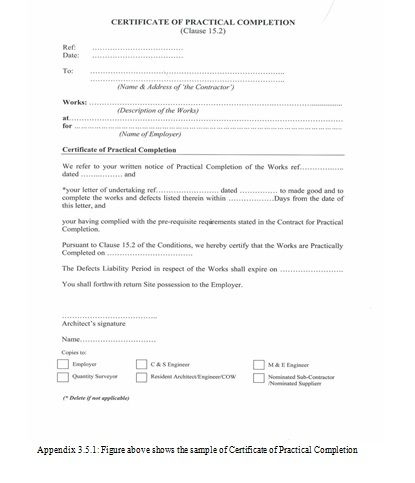 Practical Completion Certificate Template Jct In 2020 for Quality Practical Completion Certificate Template Uk