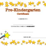 Pre Kindergarten Diploma Certificate Free (Sparkle Pertaining To Pre Kindergarten Diplomas Templates Printable Free