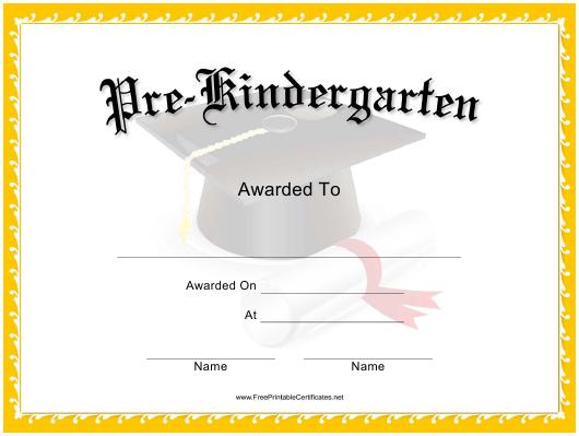 Pre Kindergarten Graduation Certificate Template Download With Quality Pre Kindergarten Diplomas Templates Printable Free