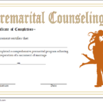 Pre Marriage Counseling Certificate Template Free Printable With Regard To Marriage Counseling Certificate Template
