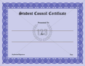 Precious Student Council Certificate Download-123Certificate regarding Student Council Certificate Template Free
