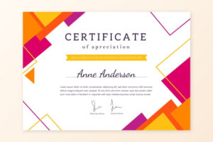 Premium Vector   Abstract Geometric Certificate Template Theme in Fun Certificate Templates