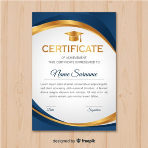 Premium Vector | Beautiful Certificate Template With Golden for Unique Beautiful Certificate Templates