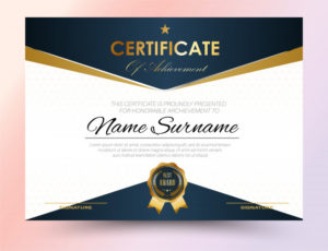 Premium Vector | Certificate Template Design A4 Size intended for New Certificate Template Size