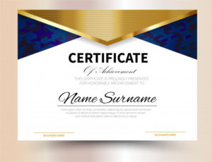 Premium Vector | Certificate Template Design A4 Size pertaining to Certificate Template Size