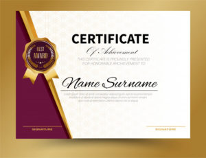 Premium Vector | Certificate Template Design A4 Size throughout Certificate Template Size