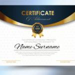 Premium Vector | Certificate Template Design A4 Size within Certificate Template Size