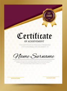 Premium Vector | Certificate Template Design A4 Size within New Certificate Template Size