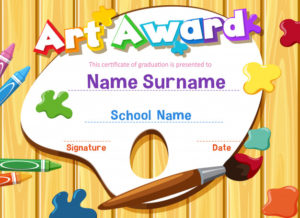 Premium Vector | Certificate Template For Art Award With pertaining to Art Award Certificate Template