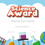 Premium Vector | Certificate Template For Science Award With Throughout Science Award Certificate Templates
