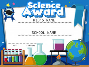 Premium Vector   Certificate Template For Science Award With throughout Science Award Certificate Templates