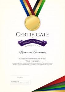 Premium Vector | Certificate Template In Sport Theme With within Badminton Certificate Template Free 12 Awards