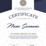 Premium Vector | Certificate Template With Clean And Modern For Best Qualification Certificate Template