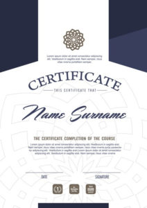 Premium Vector   Certificate Template With Clean And Modern for Best Qualification Certificate Template