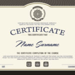 Premium Vector | Certificate Template With Clean And Modern In Best Qualification Certificate Template