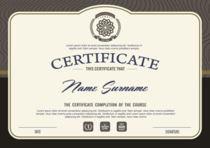 Premium Vector   Certificate Template With Clean And Modern in Best Qualification Certificate Template