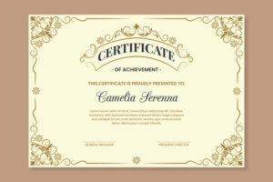 Premium Vector | Elegant Award Certificate Template for Winner Certificate Template