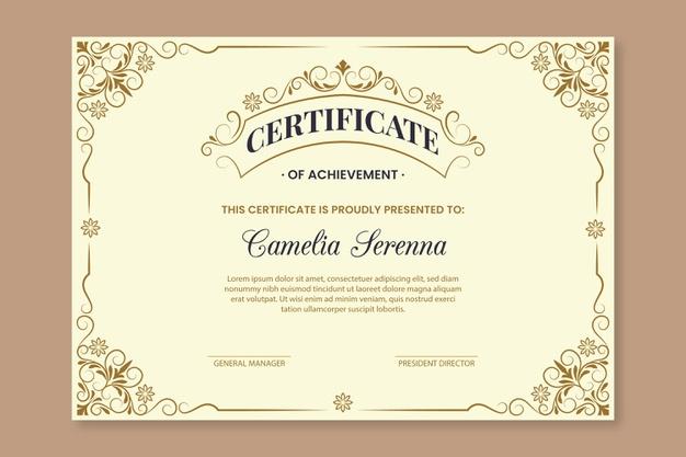 Premium Vector | Elegant Award Certificate Template intended for Winner Certificate Template