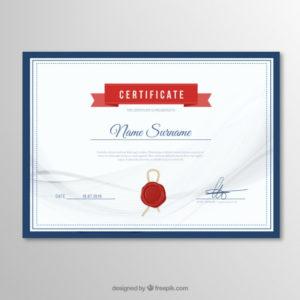 Premium Vector | Elegant Certificate Template with Elegant Certificate Templates Free