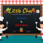 Premium Vector | Little Chef Cooking Class Diploma Certificate For Best Certificate Of Cooking 7 Template Choices Free