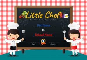 Premium Vector   Little Chef Cooking Class Diploma Certificate for Best Certificate Of Cooking 7 Template Choices Free