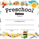 Preschool Diploma – Free Printable | Kindergarten Graduation For Certificate For Pre K Graduation Template