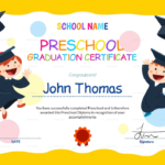 Preschool Graduation Certificate Template Free | Preschool Pertaining To Best Kindergarten Diploma Certificate Templates 10 Designs Free