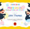 Preschool Graduation Certificate Template Free | Preschool within 10 Kindergarten Graduation Certificates To Print Free