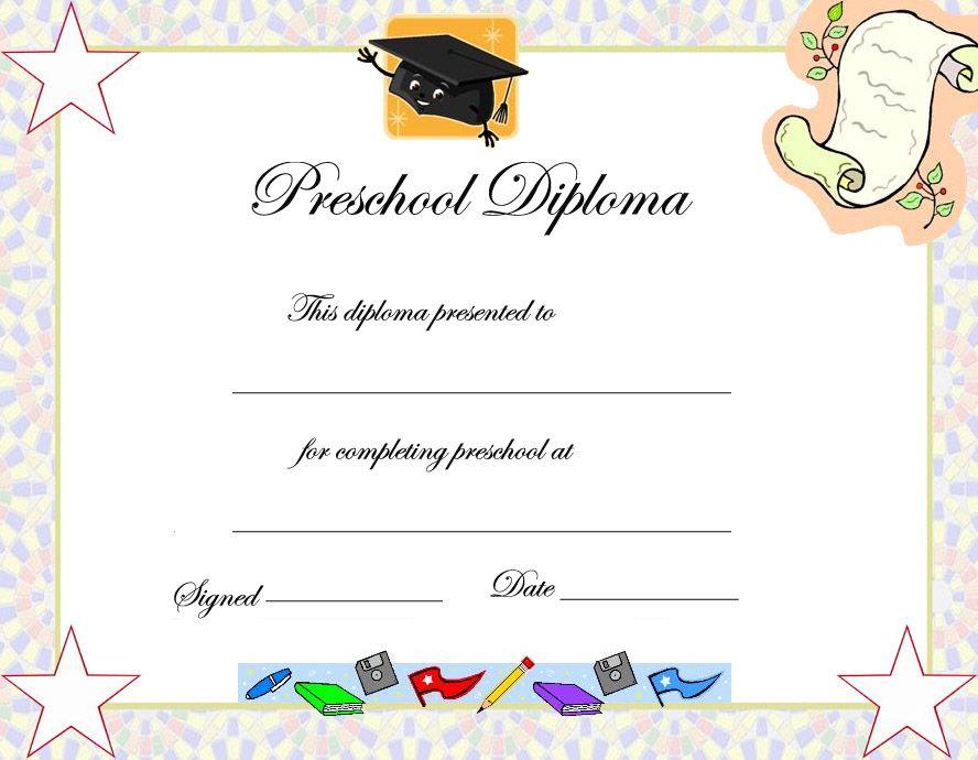 Preschool Graduation Certificate Template | Preschool regarding Quality Pre Kindergarten Diplomas Templates Printable Free