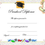 Preschool Graduation Certificate Template | Preschool With Regard To Certificate For Pre K Graduation Template